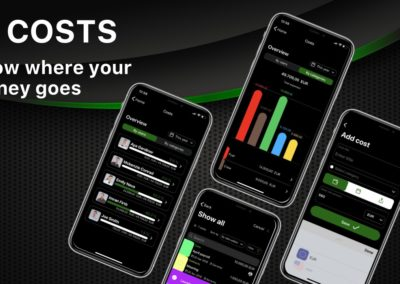 Costs | Know where your money goes | Yacht Manager App