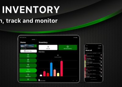 Organize your inventory | all in one app | Yacht Manager App